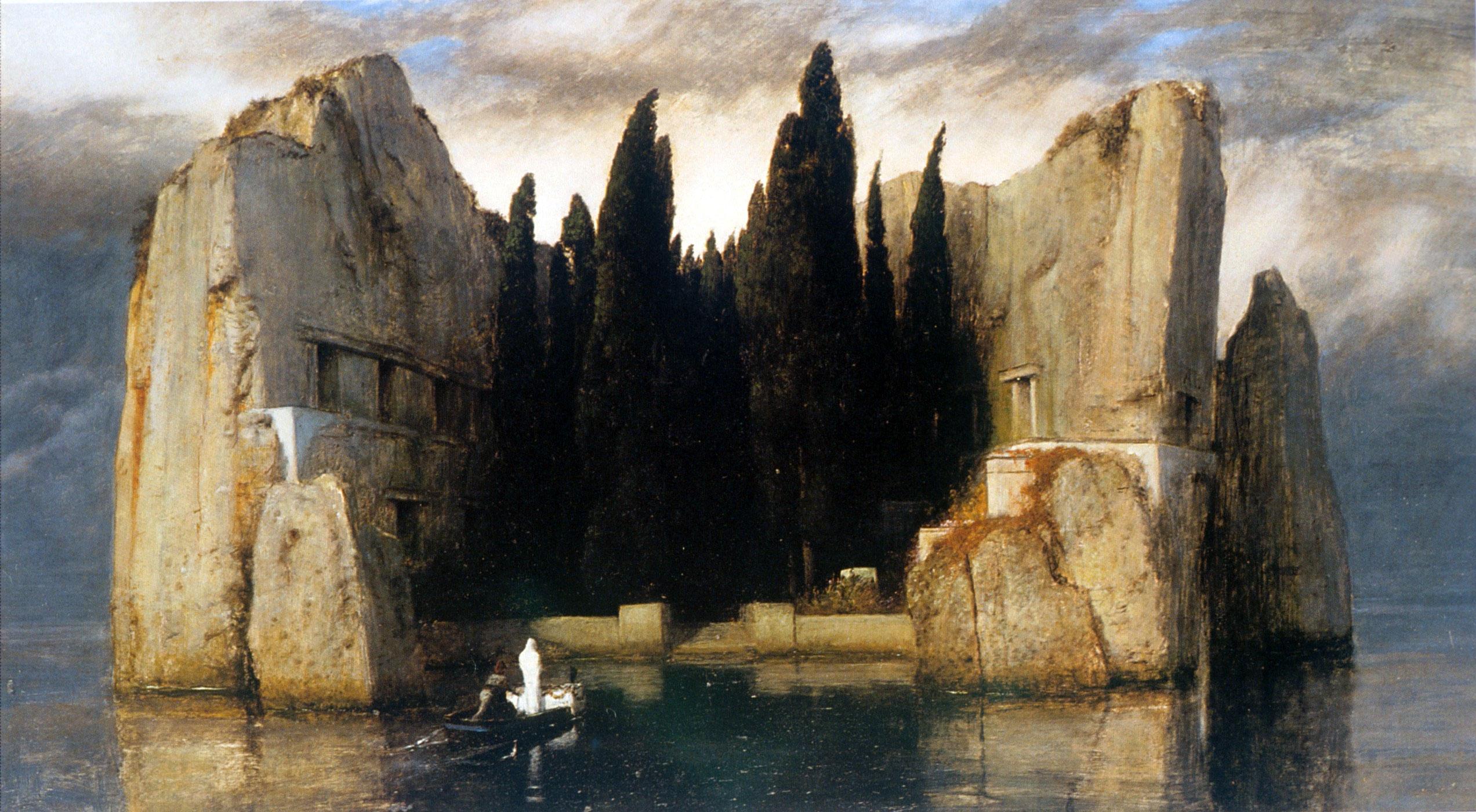 Arnold Bocklin - L'isola dei morti, 3^ versione.jpg